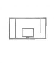 Basketbola vairogs no rūdīta stikla 1800 x 1050