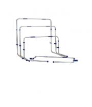 Alumīnija barjeras ar regulējamu augstumu 66-106 cm