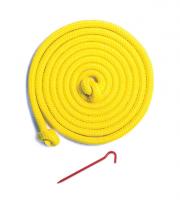Badmintona laukuma līnijas ar mietiņiem 13,4x6 metri
