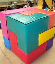 Bērnu rotaļlieta - KUBS - Moduļu komplekts GEO_MAX (7gab)