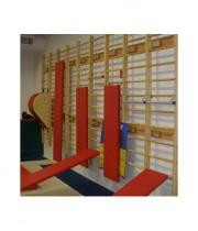 Vingrošanas sols zviedru sienai 1,5 m x 0,25 m (sarkana krāsa)