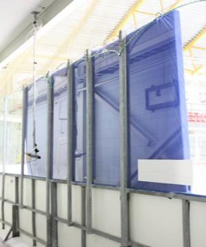 Hokeja borta stiklu aizsargmatrači 8,28 metri (6 * 160 cm x 138cm x 7cm)