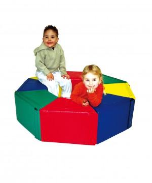 Mīkstie rotaļu elementi - moduļu komplekts NDR Sešstūris (8gab.) art. 1317