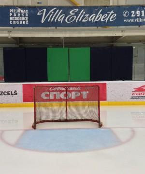 Hokeja bortu stiklu aizsargpārklājs NDR (ar cieto aizmuguri 158x100cm)
